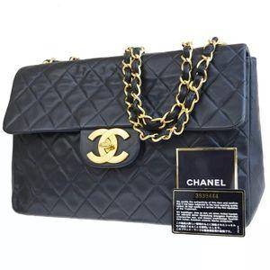 Authentic CHANEL XL JUMBO Shoulder Bag
